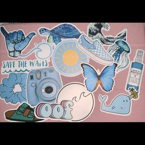 Blue 16 pack of stickers